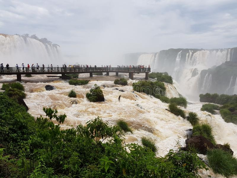 A ideia das quedas de Iguazu Falls imagem de stock royalty free