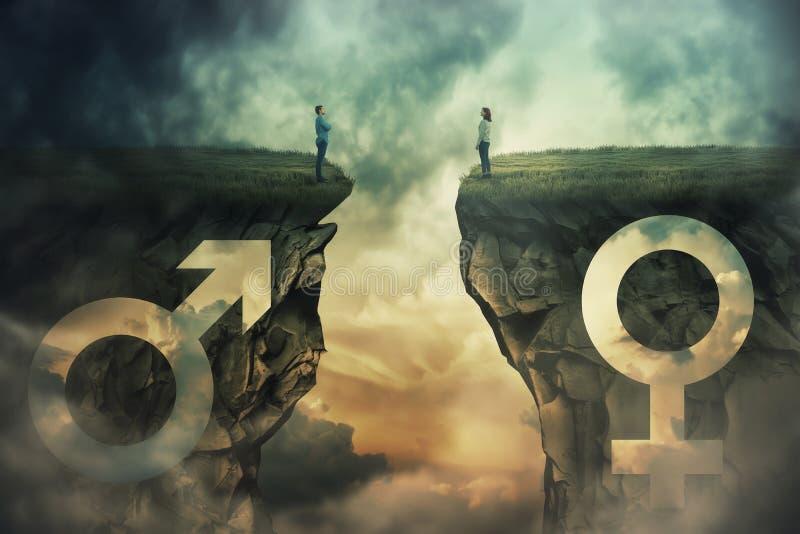 Ideia de Gap de gênero imagem de stock royalty free