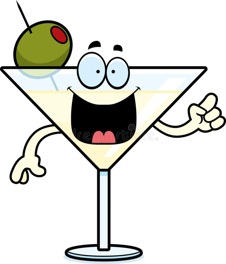 Ideia de Martini dos desenhos animados ilustração royalty free