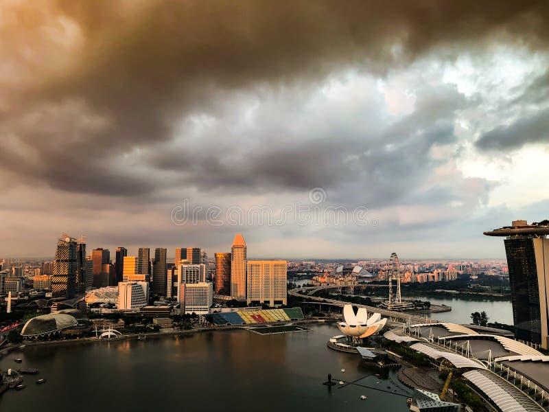 Ideia de Singapura da skyline fotografia de stock royalty free