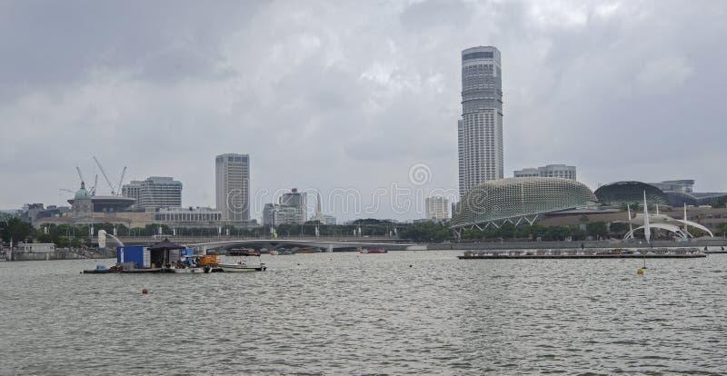 Ideia de teatros da esplanada de Marina Bay foto de stock royalty free