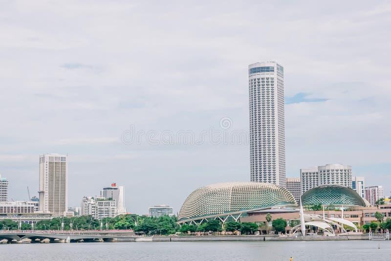Ideia de teatros da esplanada de Marina Bay fotos de stock royalty free