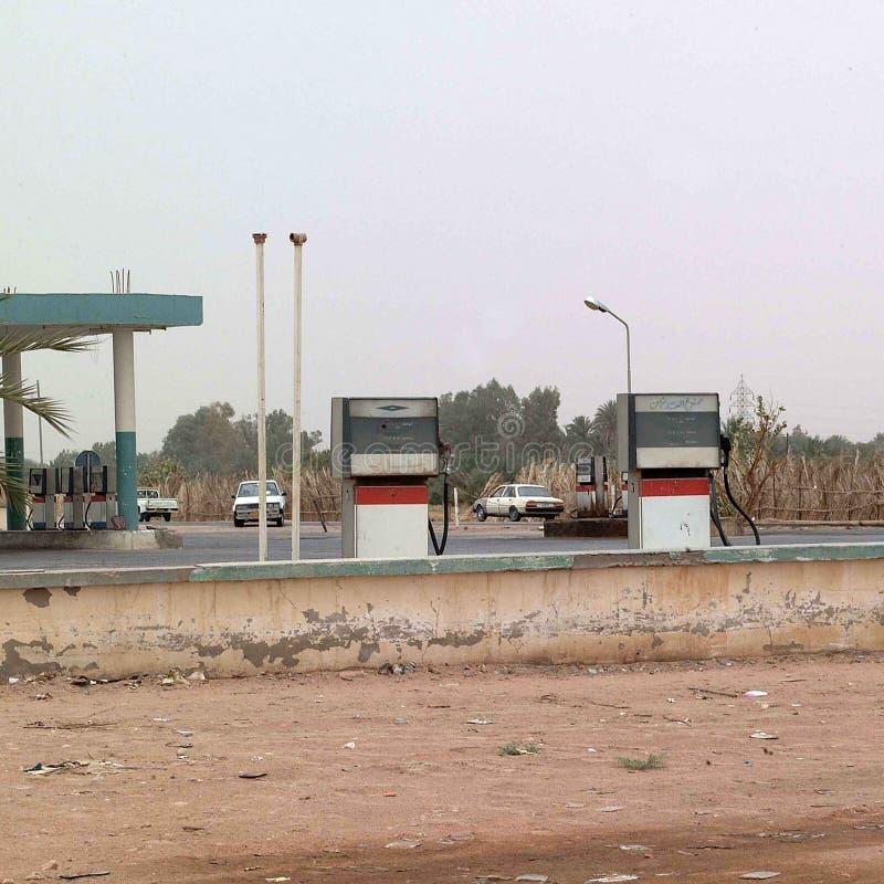 Ideia de um posto de gasolina imagem de stock