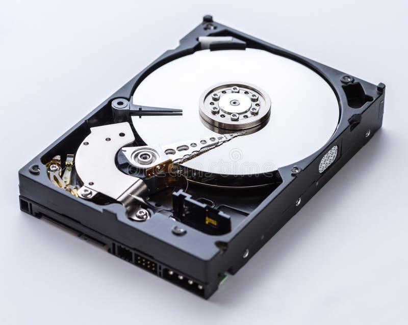 Ideia detalhada do interior de uma movimentação de disco rígido fotos de stock