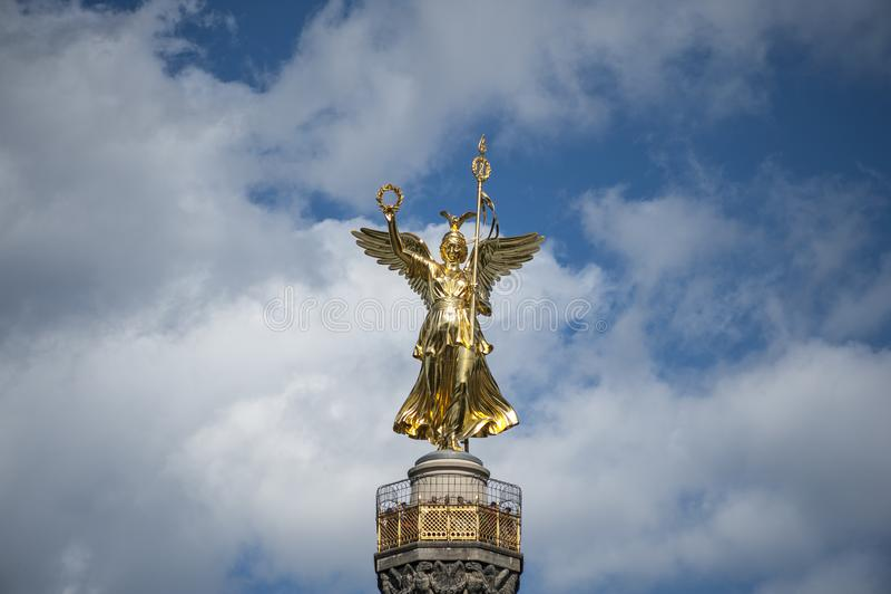 Ideia do anjo de Berlin Victory Column imagens de stock