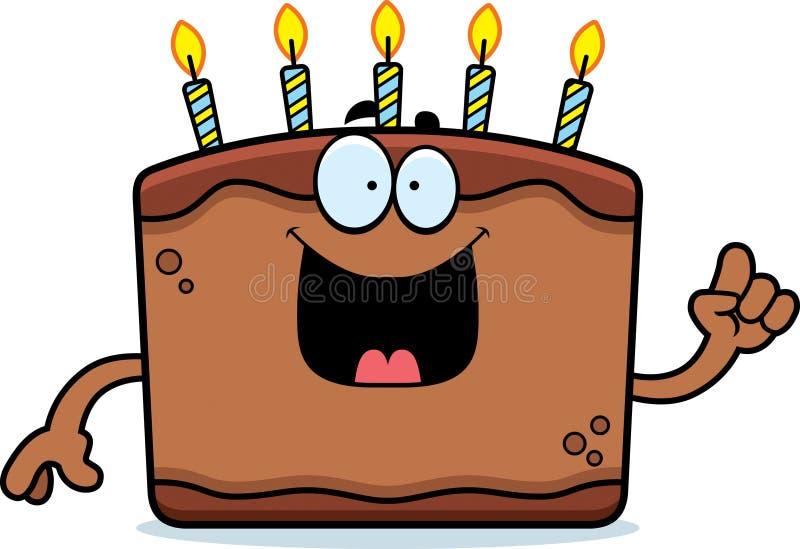 Ideia do bolo de aniversário dos desenhos animados ilustração royalty free