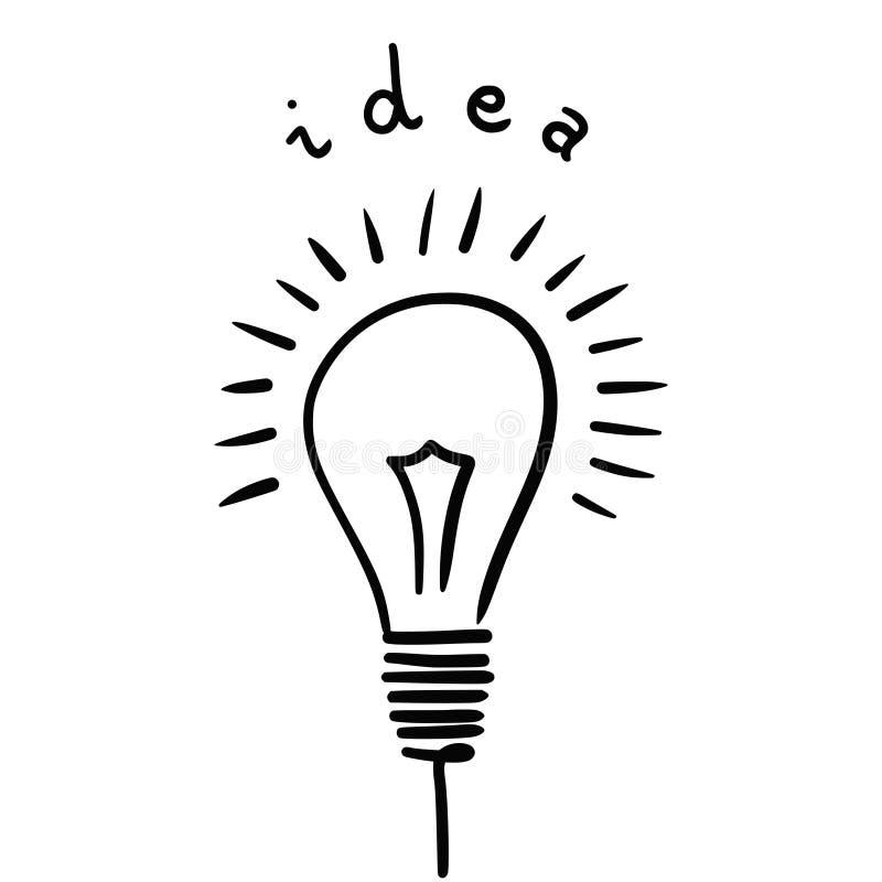 Ideia do bulbo ilustração royalty free