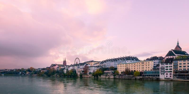 Ideia do centro de cidade histórico de Basileia fotos de stock royalty free