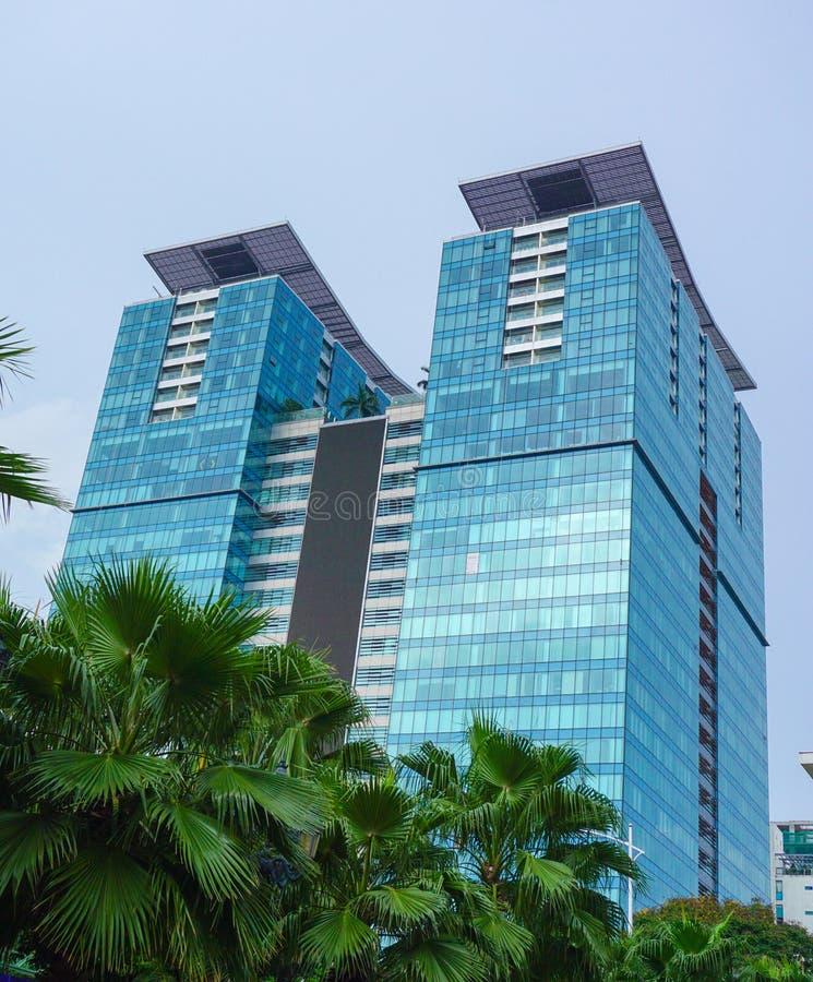 Ideia do centro de Vincom na baixa na cidade de Ho Chi Minh, Vietname do sul imagens de stock