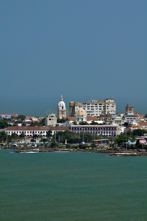 Ideia do centro histórico de Cartagena, Colômbia foto de stock