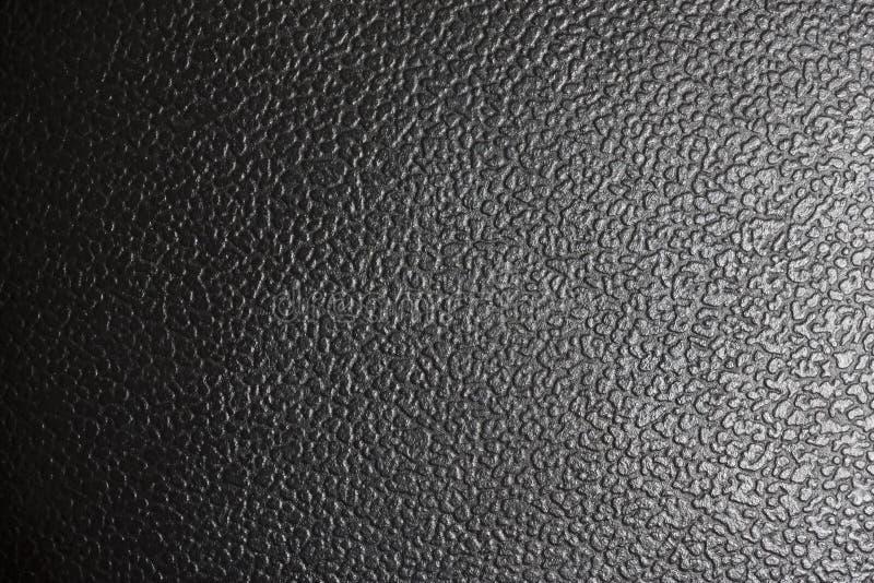 Ideia do Close-up da textura de couro preta. imagens de stock royalty free