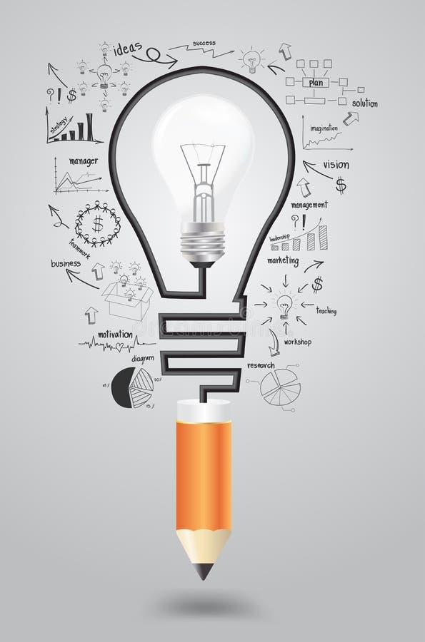 Ideia do conceito do plano da estratégia empresarial do vetor ilustração stock