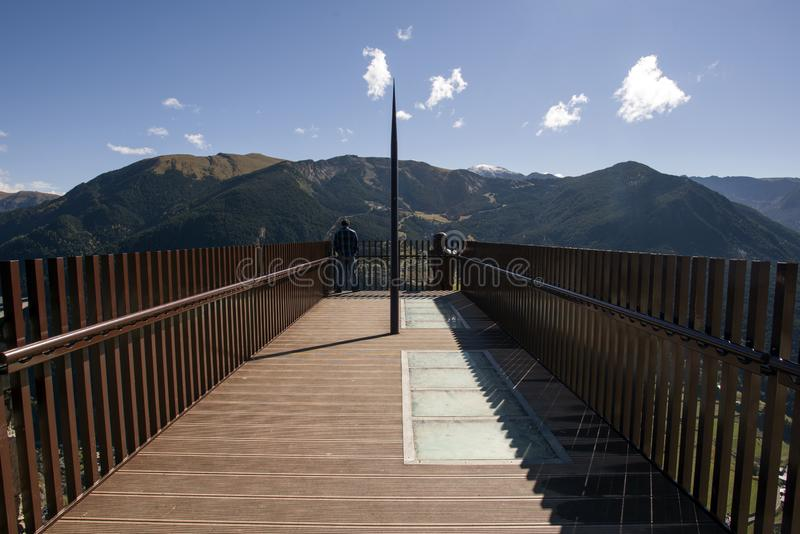Ideia do del Roc del Quer de Mirador, Andorra foto de stock royalty free