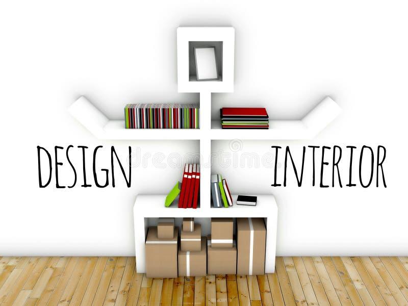 Ideia do design de interiores do espaço de trabalho ilustração do vetor