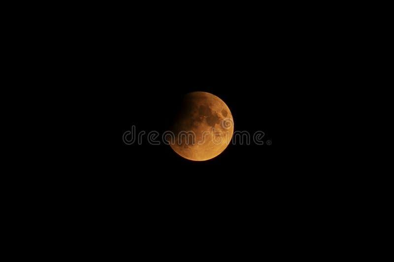 Ideia do eclipse lunar da lua super imagens de stock royalty free