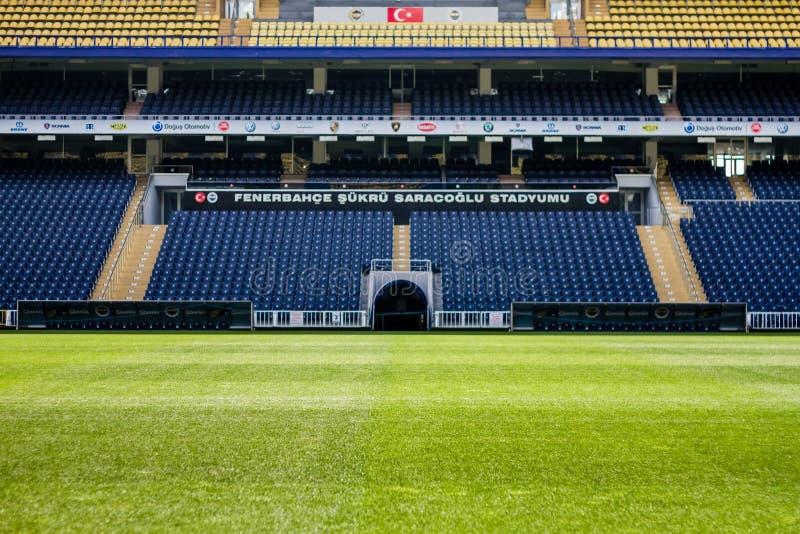 Ideia do estádio de Fenerbahce Sukru Saracoglu em Istambul, Turquia fotos de stock royalty free