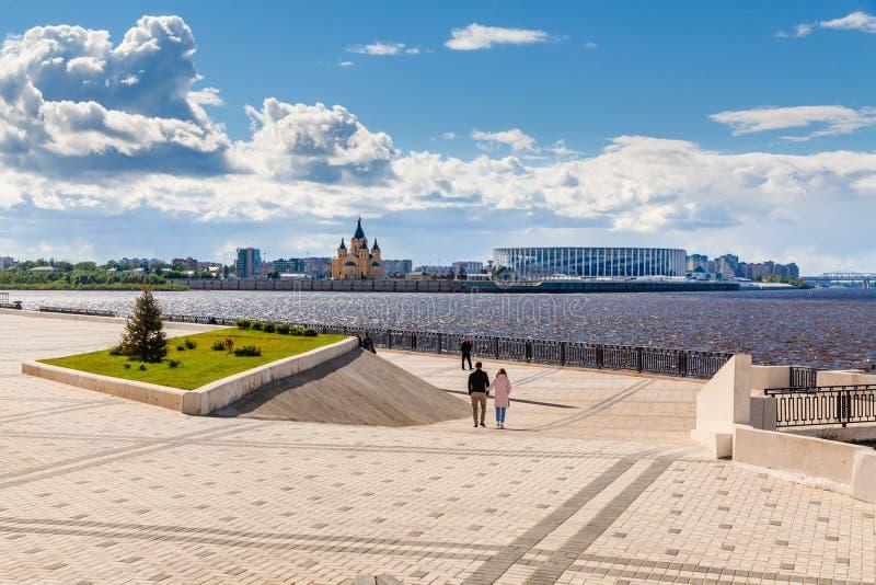 Ideia do estádio de Nizhny Novgorod fotografia de stock royalty free