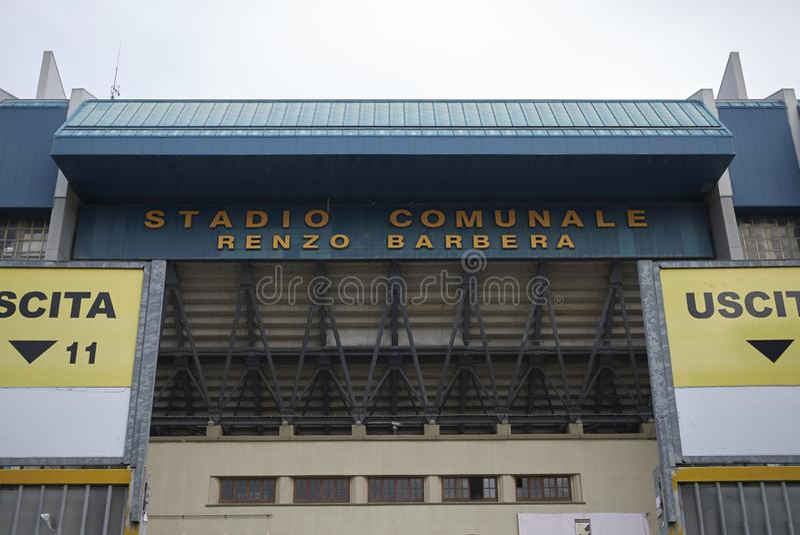 Ideia do estádio de Renzo Barbera foto de stock