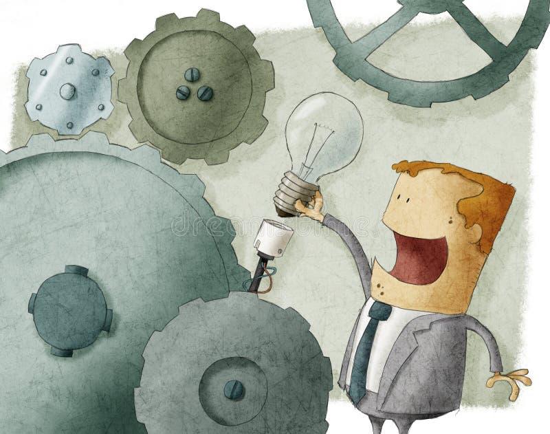 Ideia do homem de negócios ilustração royalty free