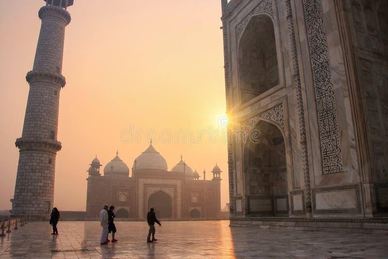 Ideia do jawab da base no nascer do sol, Agra de Taj Mahal, Uttar Prades fotos de stock royalty free