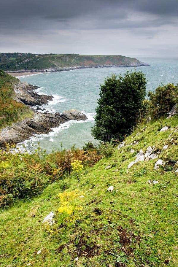 Ideia do litoral de Wales sul fotos de stock