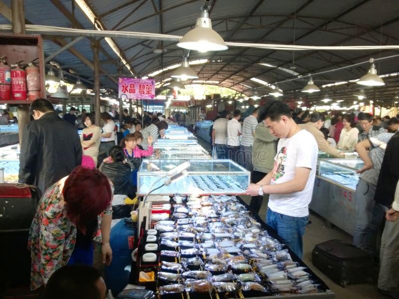 Ideia do mercado chinês do jade fotografia de stock royalty free