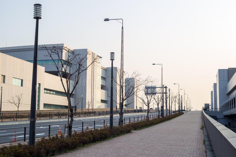 Ideia do mercado de peixes por atacado de Toyosu imagens de stock