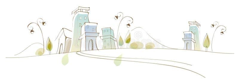 A ideia do scape da cidade ilustração stock