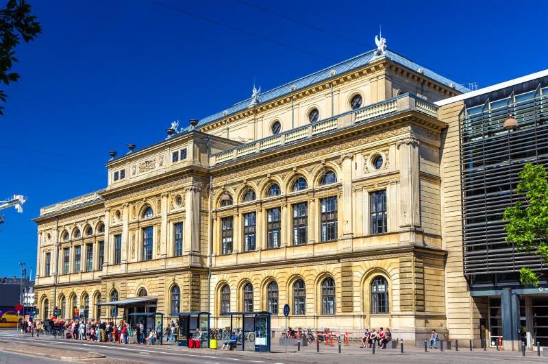 Ideia do teatro dinamarquês real em Copenhaga imagens de stock royalty free