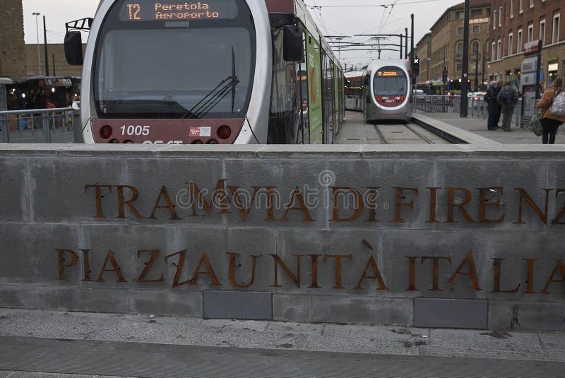 Ideia do terminal de Tramvia imagem de stock