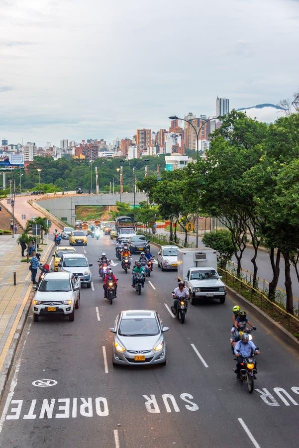 Ideia do tráfego em Bucaramanga fotos de stock