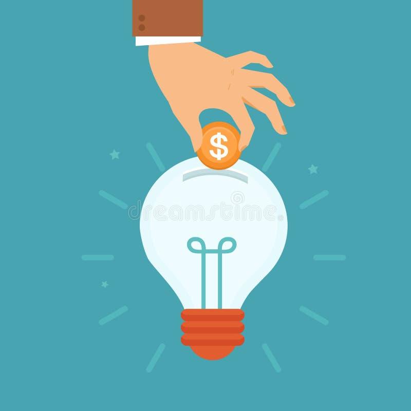 Ideia do vetor que atrai o conceito do dinheiro ilustração royalty free