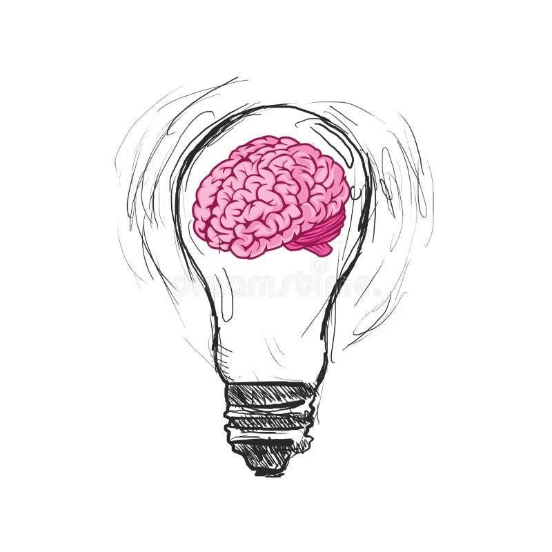 Ideia e conceito do negócio do desenho do homem de negócio ilustração royalty free