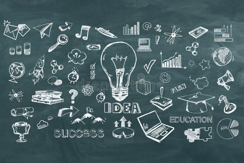 Ideia e conceito do sucesso ilustração stock
