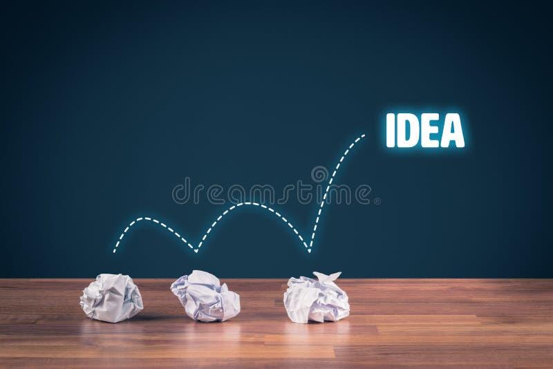 Ideia e processo criativo imagem de stock