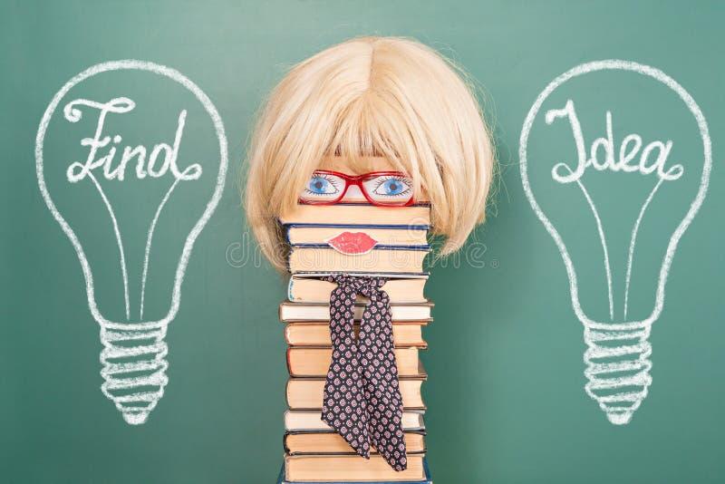 Ideia engraçada da educação foto de stock