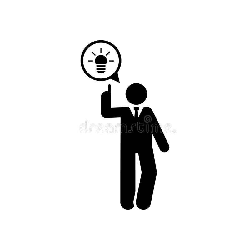 Ideia, escritório, ícone do trabalho Elemento do ?cone do homem de neg?cios ?cone superior do projeto gr?fico da qualidade Sinais ilustração royalty free