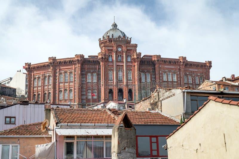 Ideia exterior da colagem ortodoxo grega de Phanar em Balat, Istambul, Turquia foto de stock