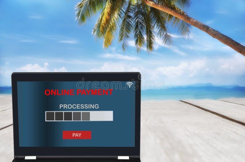 Ideia financeira do pagamento do conceito da tecnologia em qualquer lugar imagens de stock