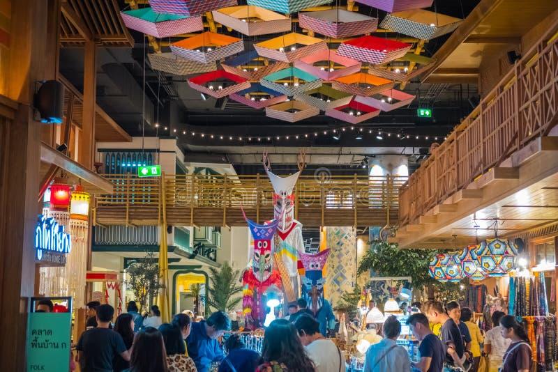 A ideia interior do ÍCONE SIÃO, é o shopping e o marco novos de Banguecoque, Tailândia fotos de stock royalty free