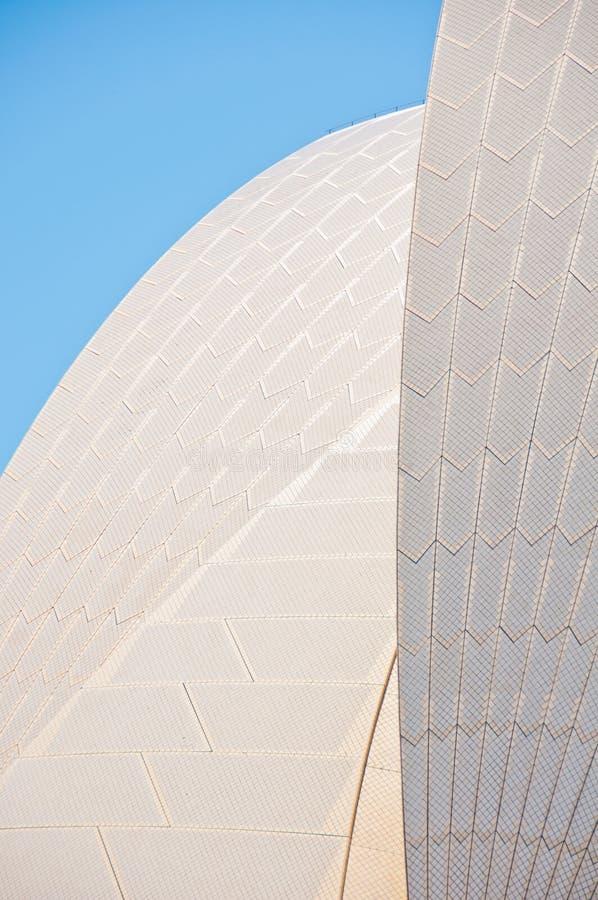 Seção do telhado do teatro da ópera de Sydney foto de stock