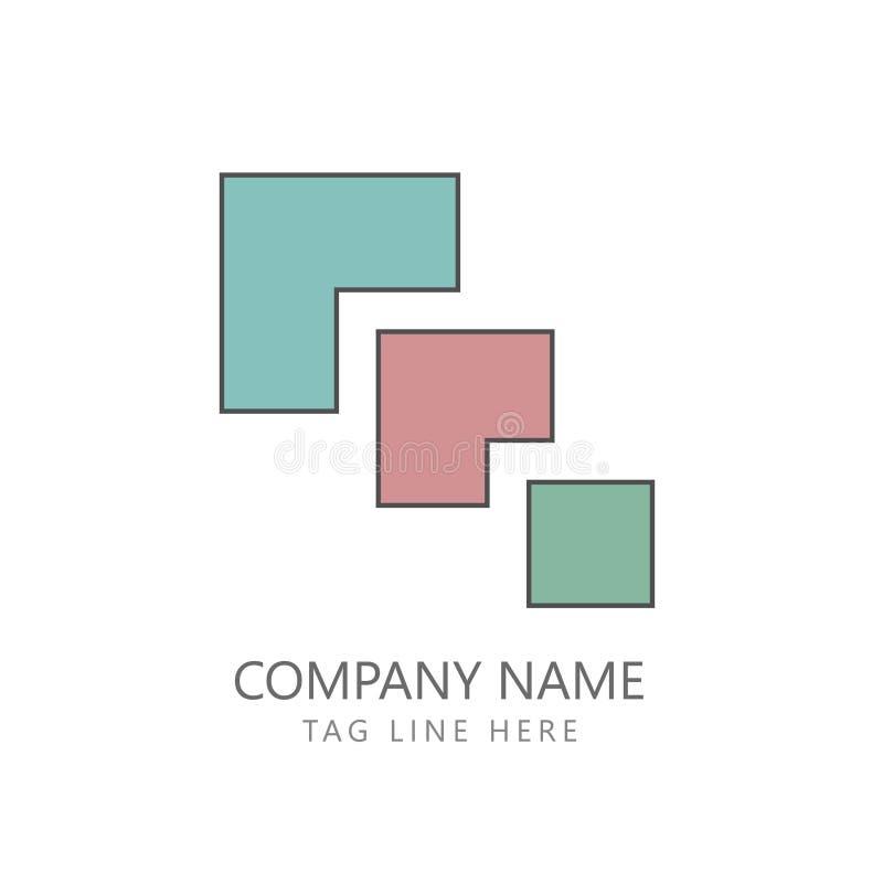 Ideia lisa de Logo Design Minimalism Concept ilustração do vetor