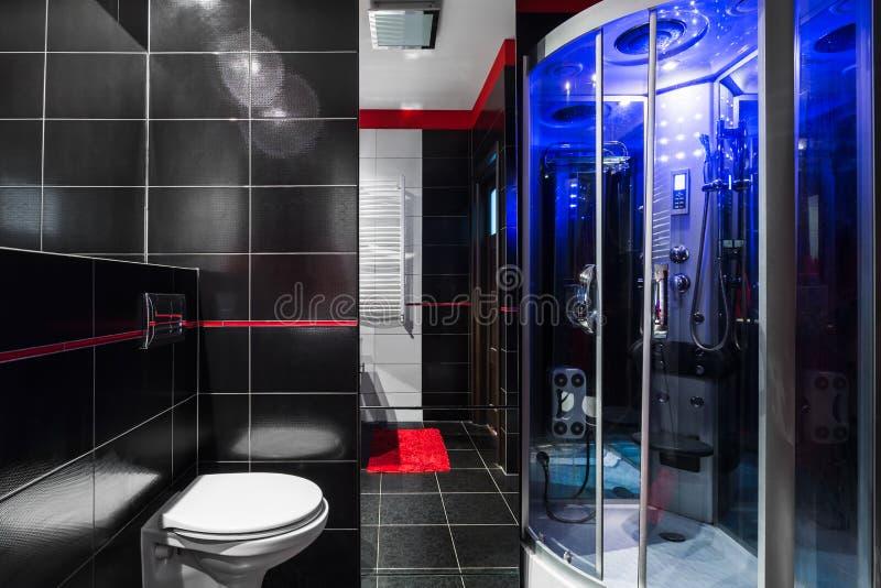 Ideia Luxe do banheiro da alto-tecnologia foto de stock royalty free