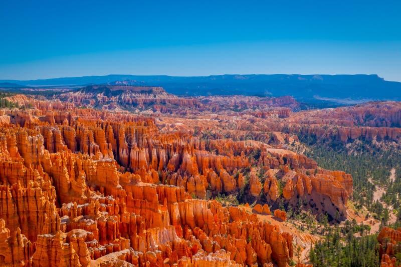 Ideia magnífica do ponto da inspiração de Bryce Canyon National Park em Utá fotografia de stock
