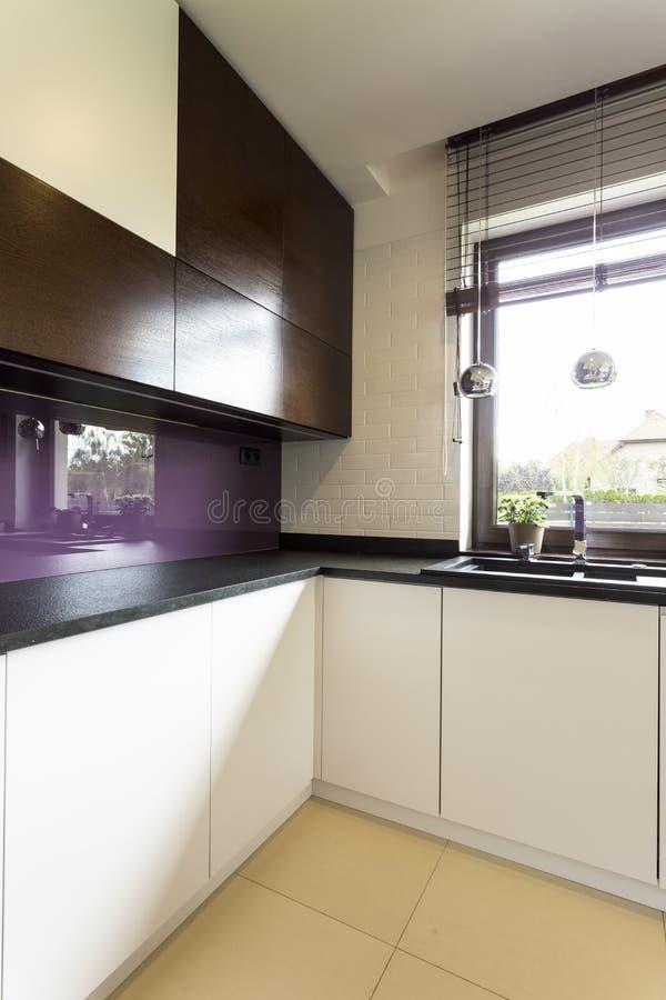 Ideia moderna e funcional da cozinha foto de stock