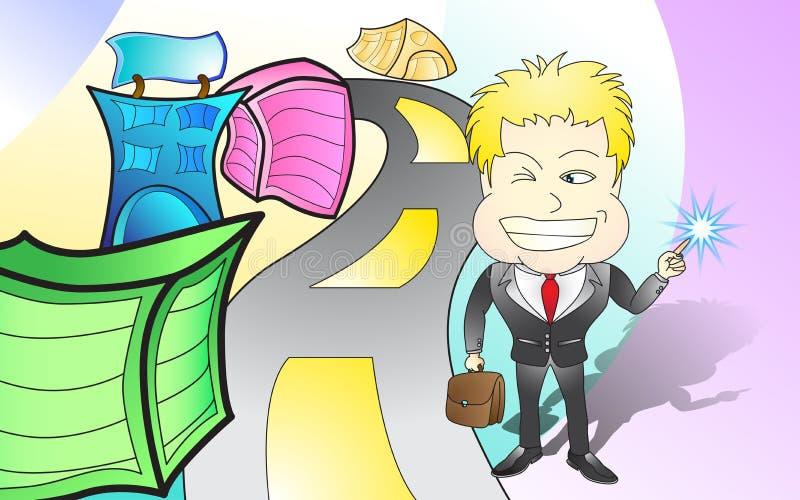 Ideia nova do homem de negócios foto de stock royalty free