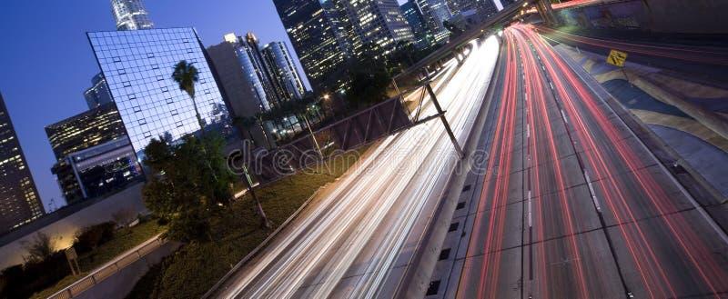 Ideia original do tráfego da estrada de Los Angeles fotografia de stock