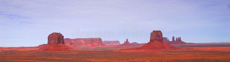 Ideia panorâmico do ponto do artista no vale do monumento foto de stock
