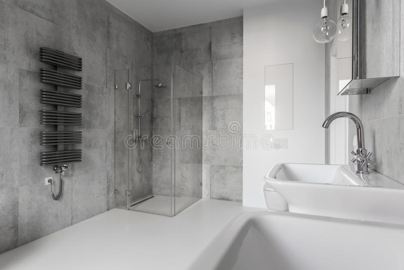Ideia perfeita do banheiro foto de stock