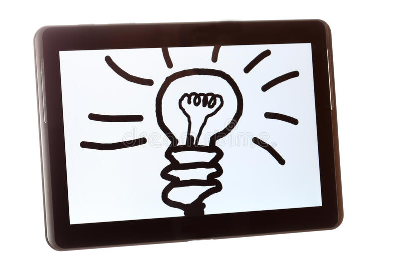 Ideia simbólica em uma tabuleta imagem de stock royalty free